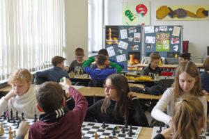 Pressebesuch Schachklasse