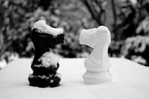 Schach im Schnee